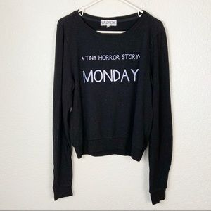Wildfox Monday Long Sleeve Shirt Small